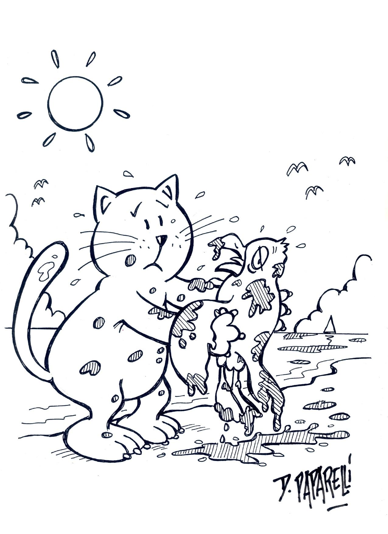Disegni di gatti da stampare e colorare eg91 regardsdefemmes for Disegno gatto facile