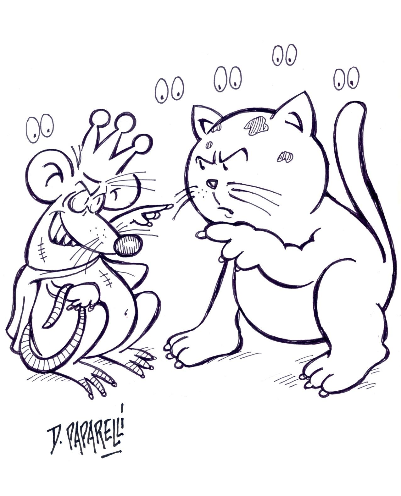 La gabbianella e il gatto disegni da colorare unione for Disegno gatto facile